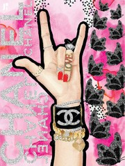 Image of peace,love,chanel
