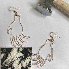 Image of Gold Hand Earrings (@stolenforms)