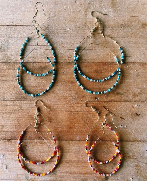 Image of Beaded Drop Earrings