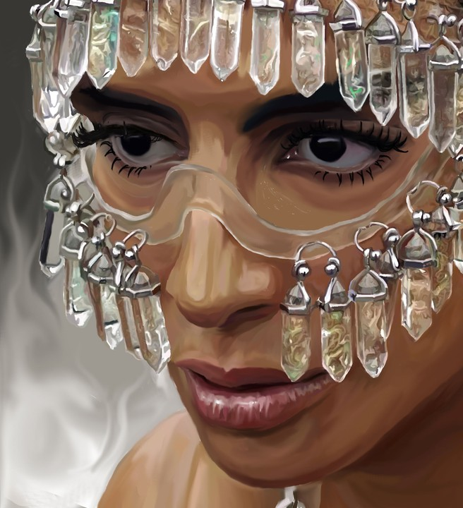 Image of Sevdaliza Digital Painting