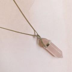 Image of rose quartz necklace