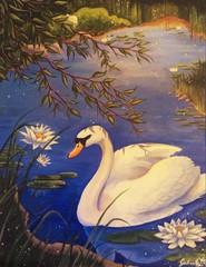 """Image of """"Lotus Swan"""" Print"""