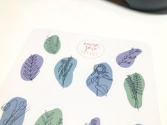 Image of 2 Aesthetic Wildflower Sticker Sheets