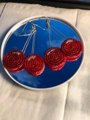 Image of Beaded Cherry Earrings