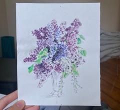 Image of Watercolor Lilacs