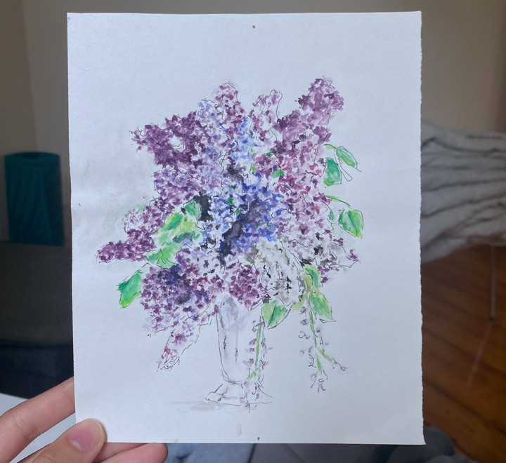 Image of Watercolor Lilacs