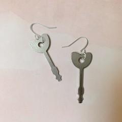 Image of key to my heart earrings