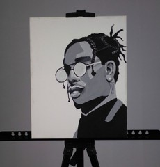 Image of A$AP Rocky Painting