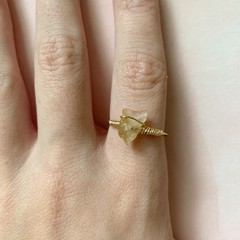 Image of gold citrine ring