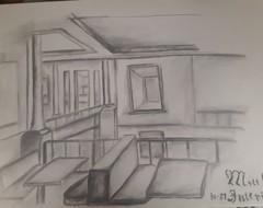Image of Interior Pencil Drawing