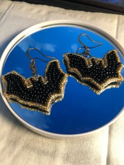 Image of Beaded Bat Earrings