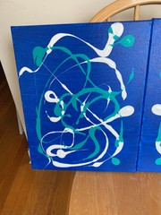 """Image of """"Part Of Their World"""" 2 Piece Acrylic Paintings"""