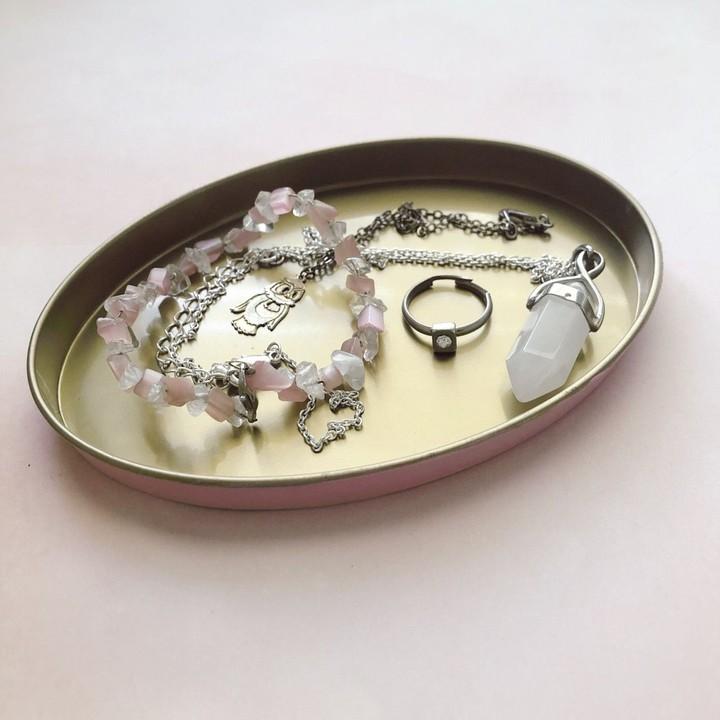 Image of pink jewelry dish