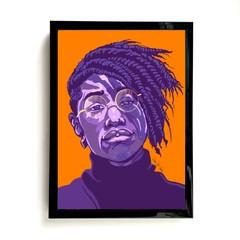 Image of Purple Orange Portrait Print