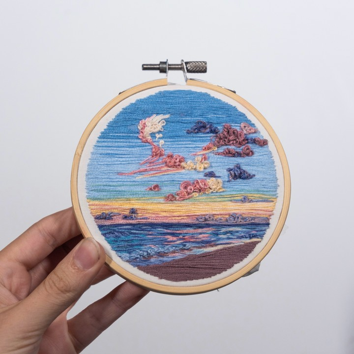 Image of Sunset Seascape Embroidery