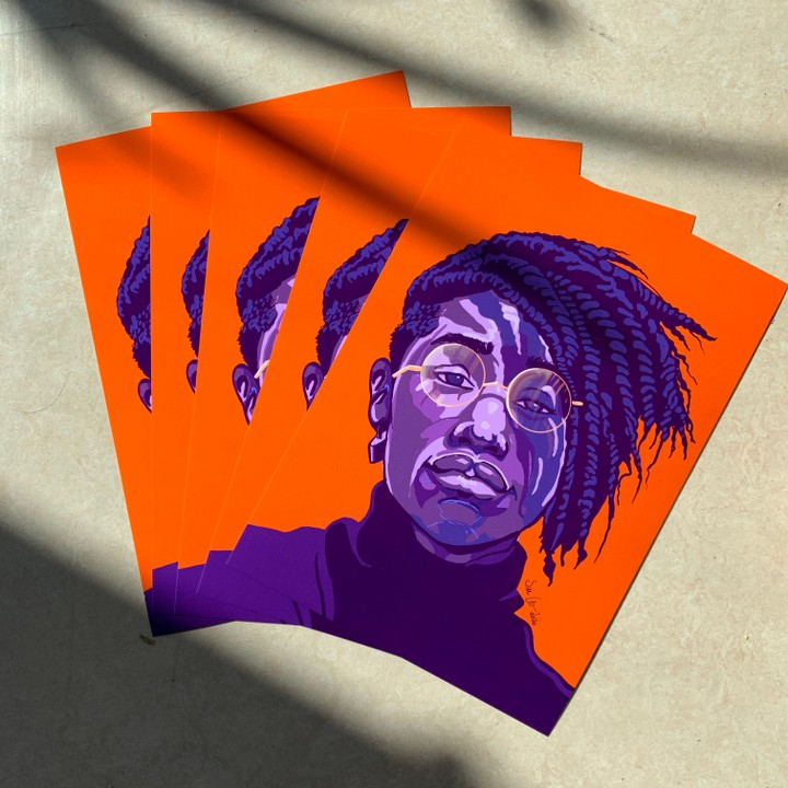 Image of Purple Orange Portrait Print