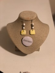 Image of Groovy Clay Earrings (yellow)