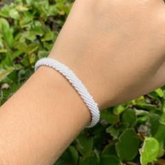 Image of white woven bracelet