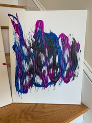 """Image of """"Shredded"""" Acrylic Abstract Paintings"""