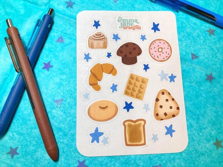 Image of Breakfast Brunch Food Stickers