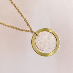 Image of pink sun necklace