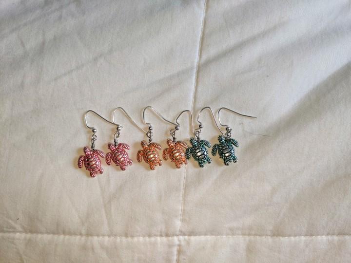 Image of Turtle Earrings