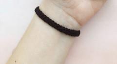 Image of black woven bracelet