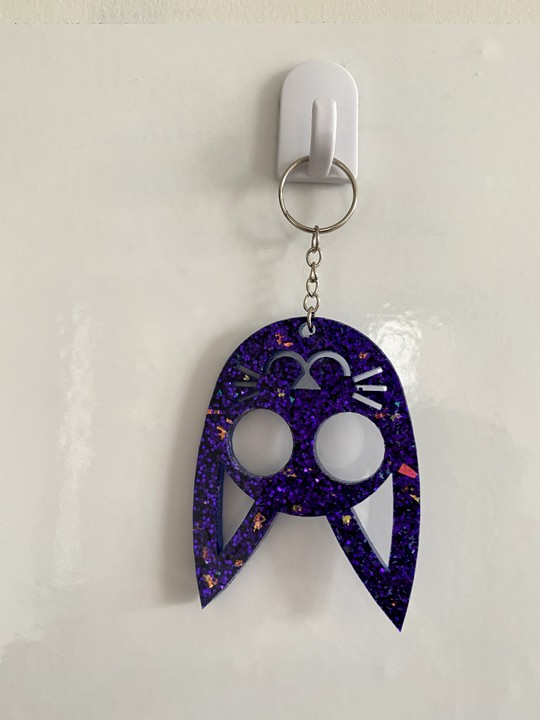 Image of Purple Kitty Kat Keychain