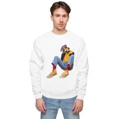 Image of Puzzled Unisex fleece sweatshirt