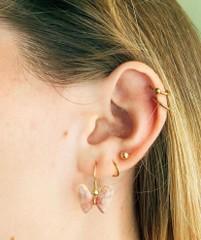 Image of Butterfly Shell Earrings