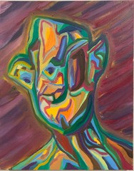 Image of Abstract Imp Face (art print)
