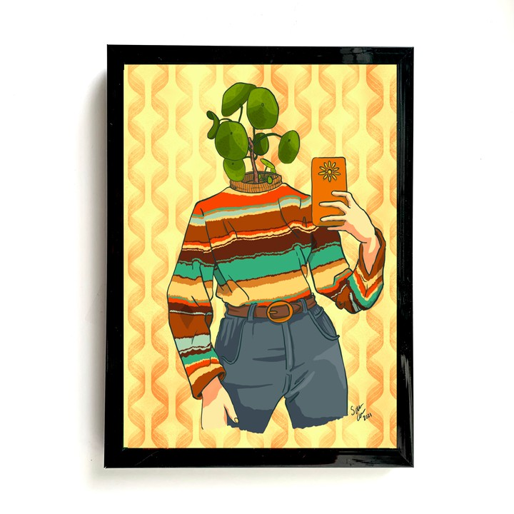 Image of Vintage Plant Person