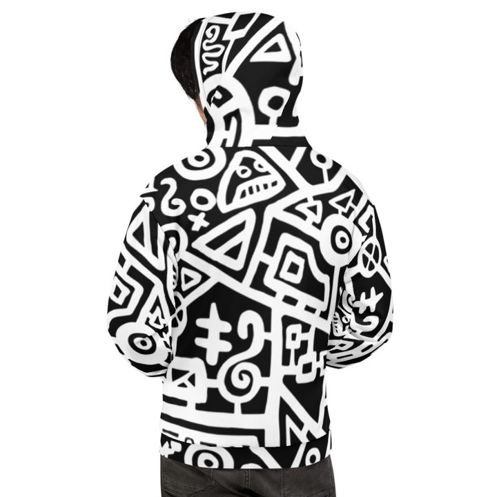 Image of Original Black & White Graphic Hoodie