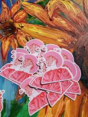 Image of Pink Flower Boy Sticker