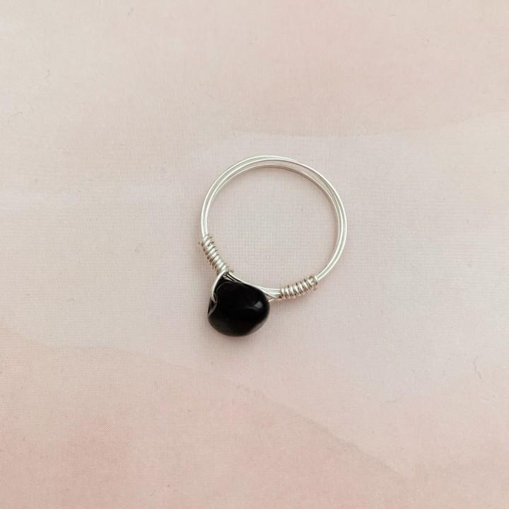 Image of black quartz ring