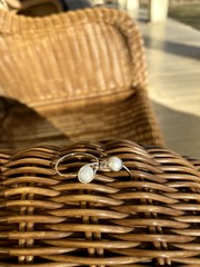 Image of Green Moonstone Ring (Silver)