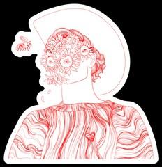 Image of Flower Boy Sticker