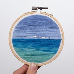 Image of Overcast Seascape Embroidery