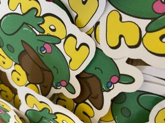 Image of YeeHaw Frog Sticker