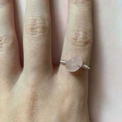Image of rose quartz ring