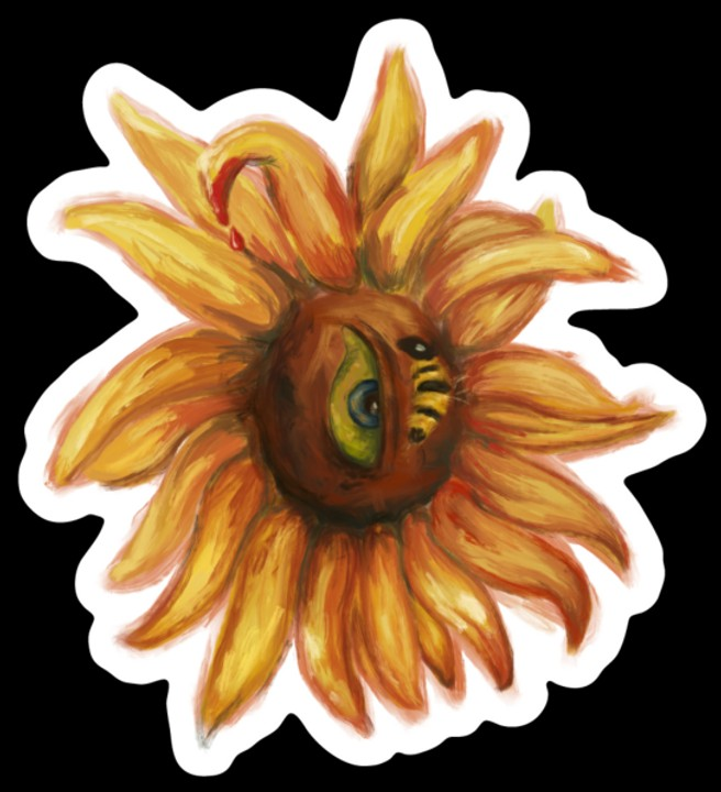 Image of Sunflower Sticker