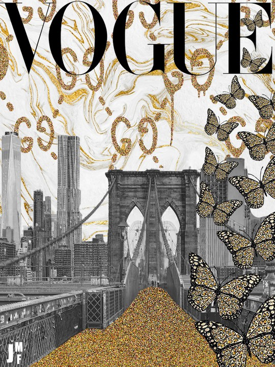 Image of brooklyn in gold