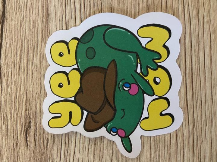 Image of YeeHaw Frog Sticker
