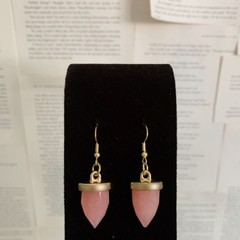 Image of pink quartz earrings
