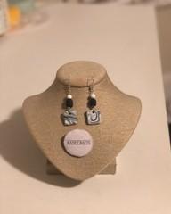 Image of Groovy Clay Earrings (Black)