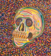 Image of 12 x 24 Skull Oil Painting Art Print
