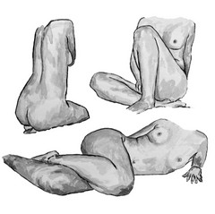 Image of Three Women Nude Art Print 2