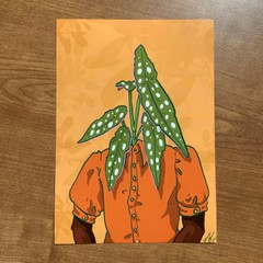 Image of Begonia Plant Person