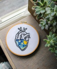 Image of Van Gogh Embroidered Heart