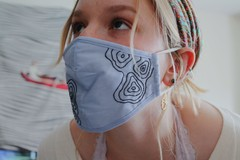 Image of Topographic Line Face Mask